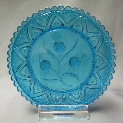 Thistle cup plate (light blue)