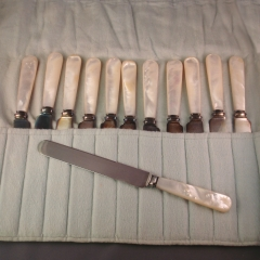 Pearl-handled 12-pc Knife set