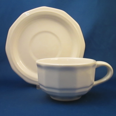 Pfaltzgraff Heritage White cup & saucer