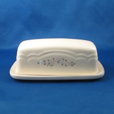 Pfaltzgraff Remembrance covered butter dish