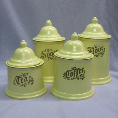 Pfaltzgraff Village canisters (set of 4)