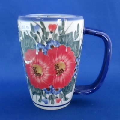 Polish Pottery Unikat Andy tall mug