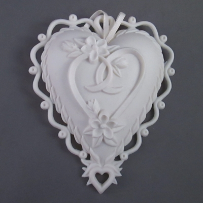 Hidden in Thee heart ornament