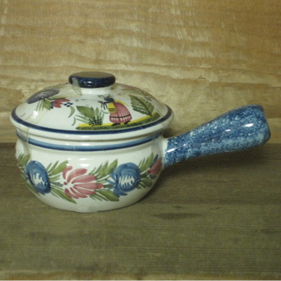 Quimper UNKNOWN individual casserole with lid