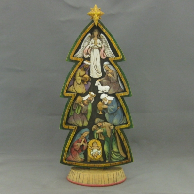 Magnetic Nativity Tree - Roman