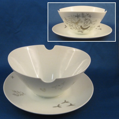 Rosenthal Birds on Trees gravy with attached base