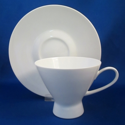 Rosenthal Classic Modern White tall cup & saucer - Click Image to Close