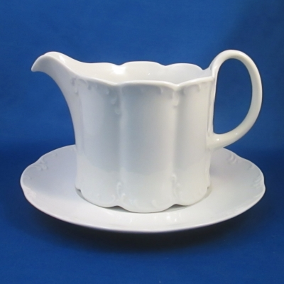 Rosenthal Monbijou White gravy boat with underplate