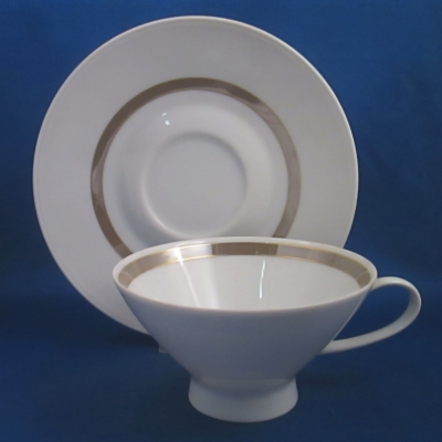 Rosenthal Taupe Band cup & saucer