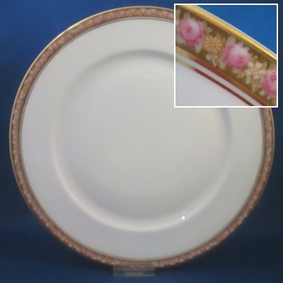 Rosenthal Unknown 4 (rose border) dinner plate