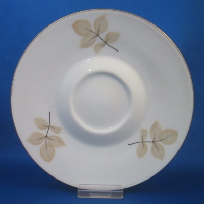 Rosenthal Unknown 6 (tan & black leaves, gold trim) saucer