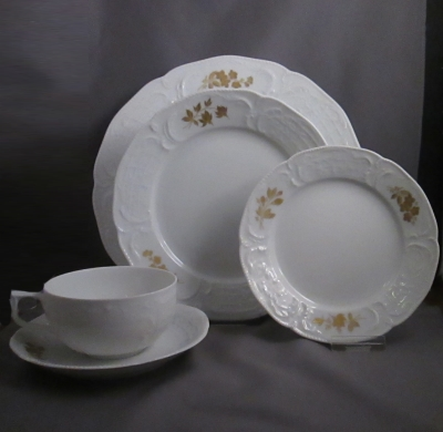 Rosenthal Gold Bouquet place setting