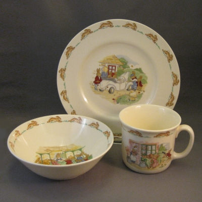 Bunnykins Childrenu0027s Set (Plate bowl and cup) & Bunnykins : Hoffmanu0027s Patterns of the Past Home to the Sea of China