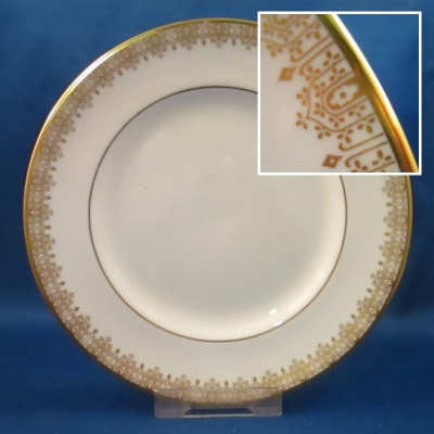 Royal Doulton Gold Lace dinner, salad, and bread & butter plates