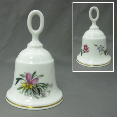 Royal Worcester Bell - Alpine Flower
