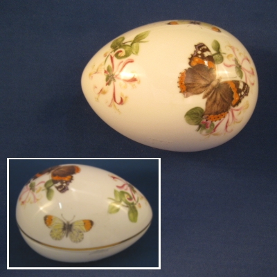 Butterflies Egg-shaped Covered Box