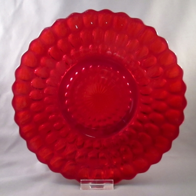 Ruby scalloped (thousand eye?) dessert plate