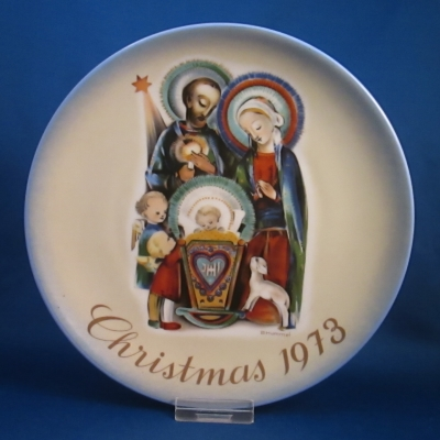 1973 Christmas Plate - The Nativity