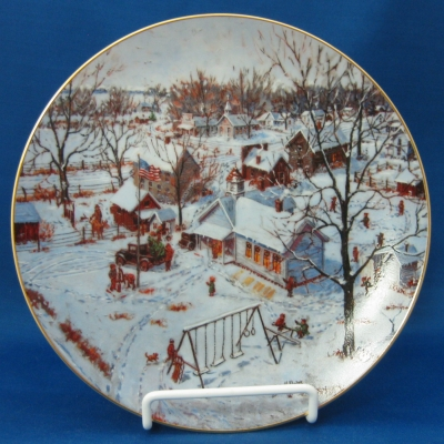 Red Oak Sampler series Counry School plate