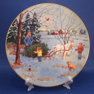 1988 Country Christmas Plate RFD America