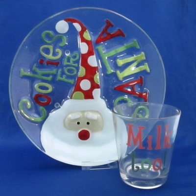 Glass Fusion by Silvestri Milk & Cookies set