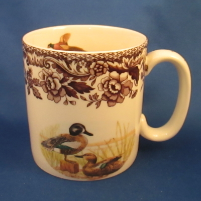 Spode Woodland 9 ounce mug - Blue-winged Teal