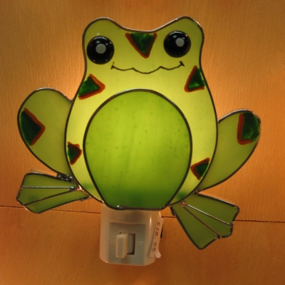 Frog Stained Glass night light