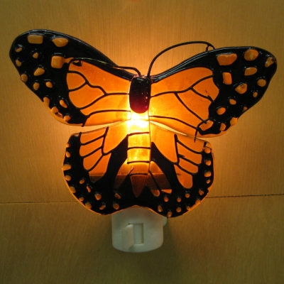Monarch Butterfly Stained Glass nightlight