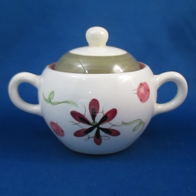 Stangl Carnival sugar bowl with lid