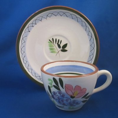 Stangl Fruit & Flowers cup & saucer