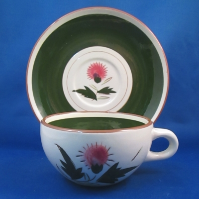 Stangl Thistle cup & saucer
