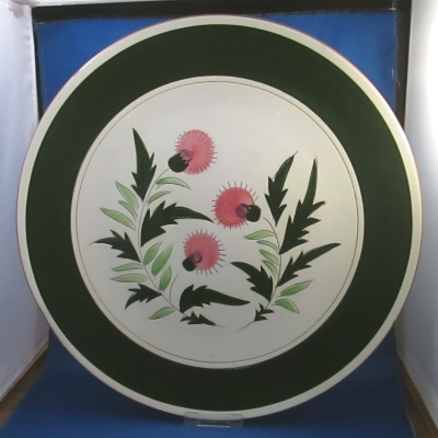 Stangl Thistle chop plate / round platter