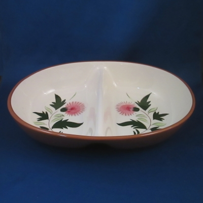 Stangl Thistle oval divided vegetable bowl