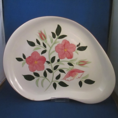 Stangl Wild Rose kidney-shaped platter