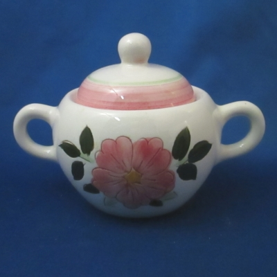 Stangl Wild Rose sugar bowl with lid