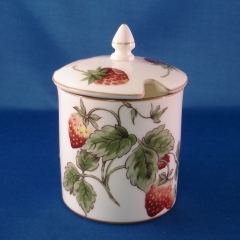 Coalport Strawberry (smooth) jam pot