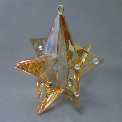 Christmas Ornament Star - Golden Shadow