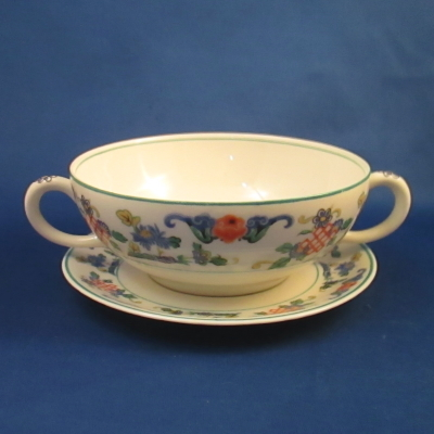 Syracuse Fusan cream soup bowl with saucer