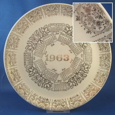 1963 Calendar Plate - Taylor, Swift & Taylor - Click Image to Close