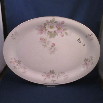 Tirschenreuth Apple Blossom medium platter (AS IS)