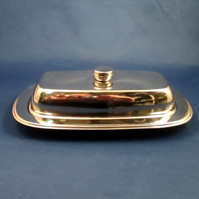 Tramontina stainless steel covered butter dish