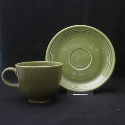 Homer Laughlin Fiesta Turf Green cup and saucer