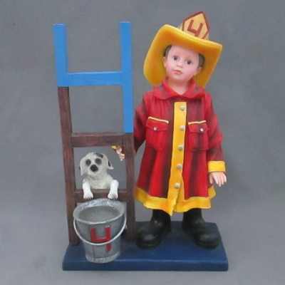 Fourth Birthday (firefighter with ladder and pail)
