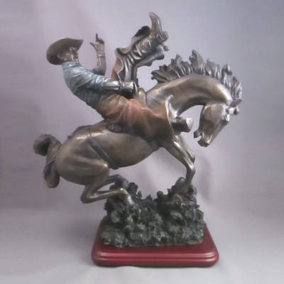 """Out of the Gate"" bronco buster figure"