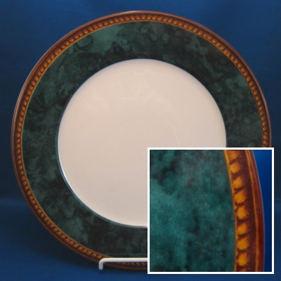 Block Vintage Emerald Green dinner plate