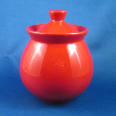 Waechtersbach Fun Factory-Red sugar bowl with lid