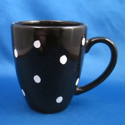 Waechtersbach Polka Dot-Black latte mug