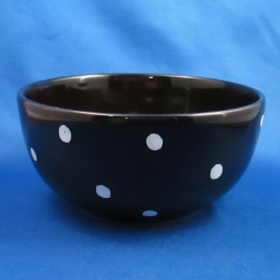 Waechtersbach Polka Dot-Black soup/cereal bowl