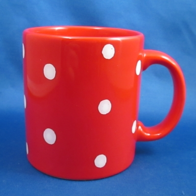 Waechtersbach Polka Dot Cherry Red square mug