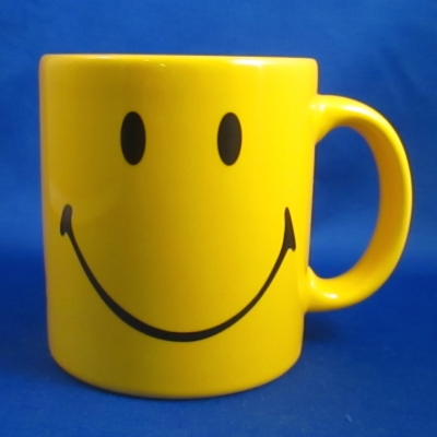 Smiley square mug